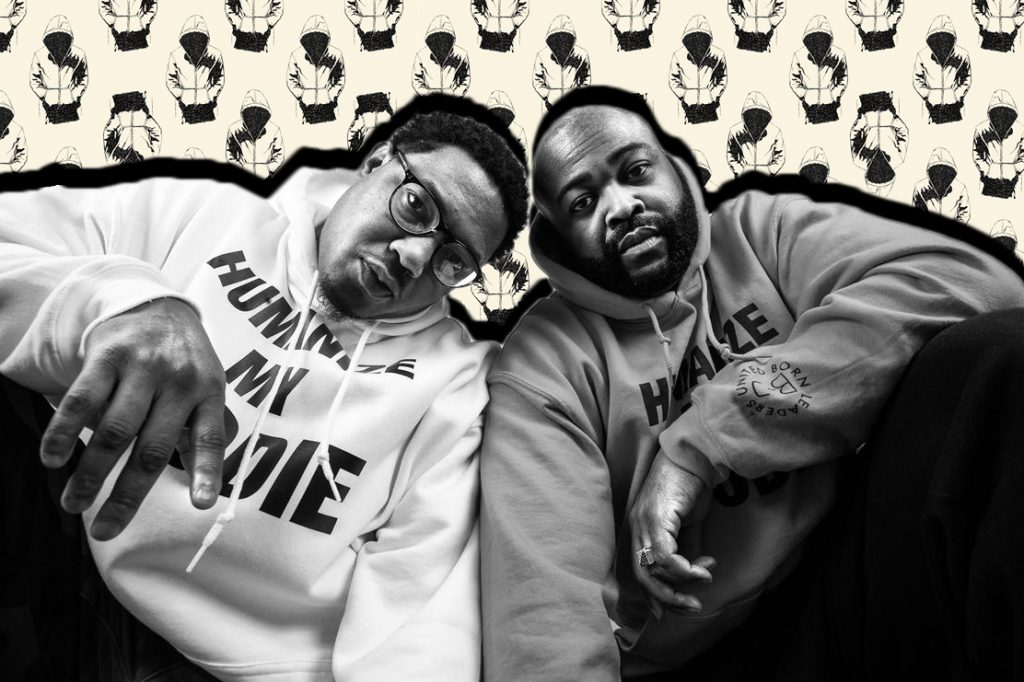 "Humanize My Hoodie brand co-founders Jason Sole and Andre Wright aim to destigmatize clothing trends that are associated with Black and brown individuals while also humanizing the person ""underneath the hoodie."""